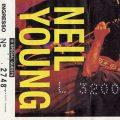 Neil Young biglietto Correggio 1993