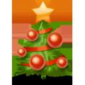 Auguri icona albero di Natale