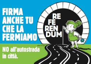 Logo referendum raccolta firme Traforo delle Torricelle Verona