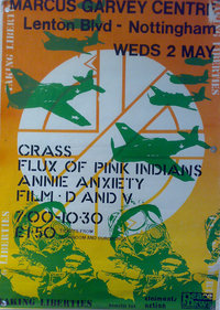 poster benefit concert 4 peace news crass