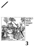 Nero prima serie n. 3 fanzine copertina