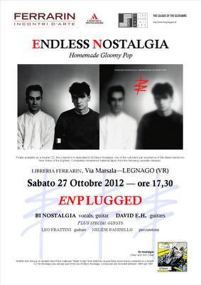 Locandina Presentazione Endless Nostalgia reissues Libreria Ferrarin 27 ottobre 2012