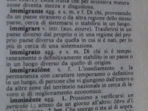 Definizione dal dizionario di immigrato