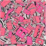 Massimo Giacon NEO-CIRCUITI tessuto Memphis - 1988