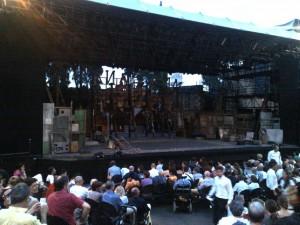 Teatro Romano Verona palco per Molto rumore per nulla 2013