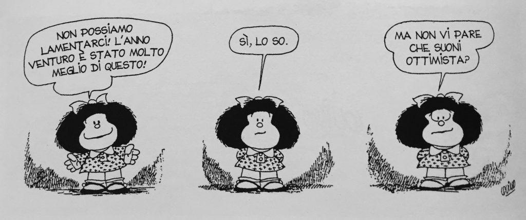 Mafalda di Quino auguri per il 2017